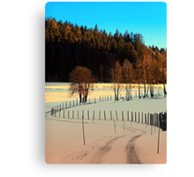 Hiking on a winter afternoon | landscape photography Canvas Print
