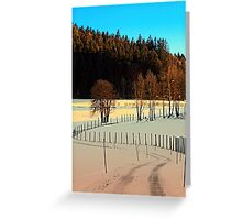 Hiking on a winter afternoon | landscape photography Greeting Card