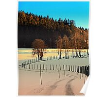 Hiking on a winter afternoon | landscape photography Poster
