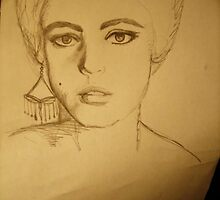 Edie Sedgwick - Pencil 3 by Melissa Jayne Curtis