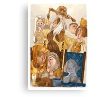 Joan of Arc - court life Canvas Print