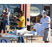 pie throwing contest at Shearwater, Tasmania, today Photographic Print