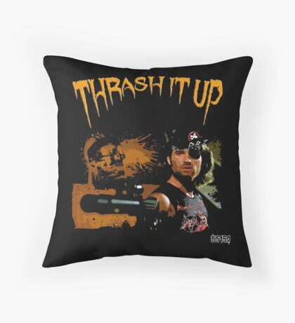 Thrash Snake Throw Pillow