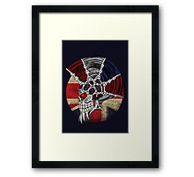 Punk Skull - Union Jack BG Framed Print