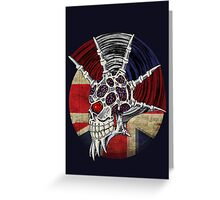 Punk Skull - Union Jack BG Greeting Card