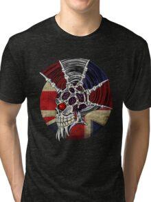 Punk Skull - Union Jack BG Tri-blend T-Shirt