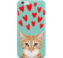 Mackenzie - Orange Tabby Cute Valentines Day Kitten Girly Retro Cat Art cell phone iPhone Case/Skin