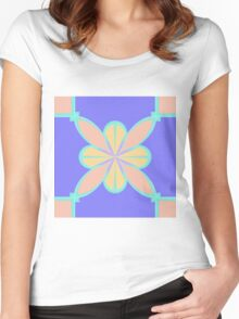 Pastel Abstract  Women's Fitted Scoop T-Shirt
