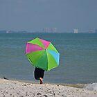 Walk Under Umbrella by Karen Checca