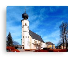 The village church of Sankt Veit / Mkr II | architectural photography Canvas Print