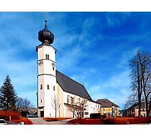 The village church of Sankt Veit / Mkr II | architectural photography Photographic Print