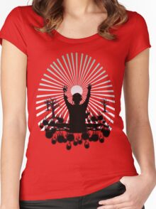 DJ SUNRISE SET Women's Fitted Scoop T-Shirt