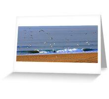 Morning Beach Greeting Card