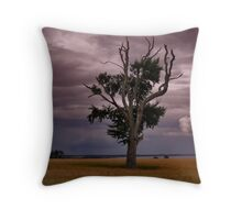 Black Isle tree Throw Pillow
