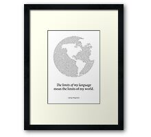 Wittgenstein Framed Print