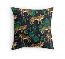 Safari Tiger Pattern by Andrea Lauren Throw Pillow