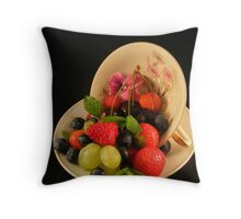 A cup of solace.... Throw Pillow