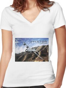 C-130 Hercules Women's Fitted V-Neck T-Shirt
