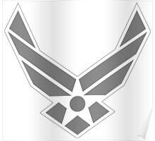 Air Force Insignia Grey Poster