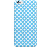 Light blue Turquoise white polka dots pattern iPhone Case/Skin