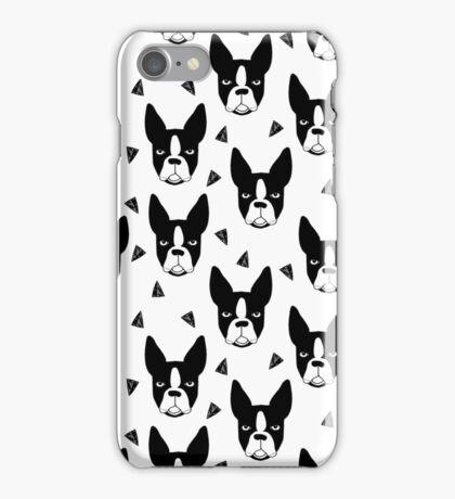 Boston Terrier - White iPhone Case/Skin