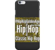 Real Hip Hop Word Cloud Art iPhone Case/Skin