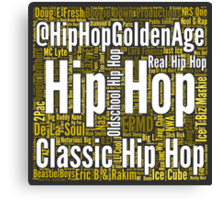 Real Hip Hop Word Cloud Art Canvas Print