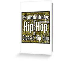 Real Hip Hop Word Cloud Art Greeting Card