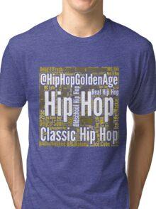 Real Hip Hop Word Cloud Art Tri-blend T-Shirt