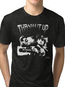 Thrash Snake B&W Tri-blend T-Shirt