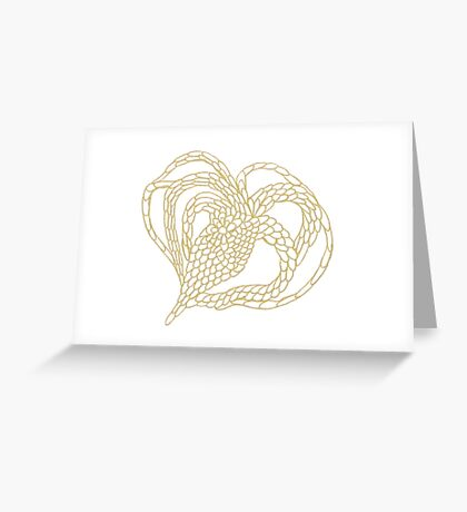 Chained Heart Tee Greeting Card