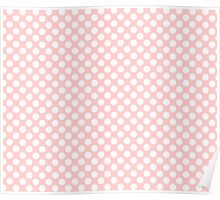 Light pink white polka dots pattern Poster