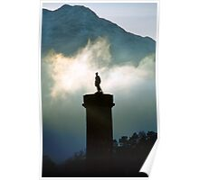 Glenfinnan monument in the mist Poster