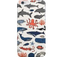 Ocean Animals by Andrea Lauren iPhone Case/Skin
