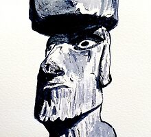 Mysterious Easter Island Head by Brian Heath