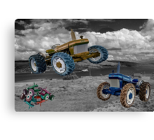 Tractor Wars  Canvas Print