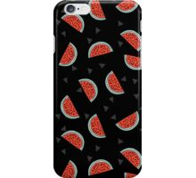 Watermelon - Black by Andrea Lauren iPhone Case/Skin