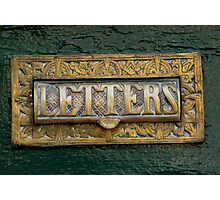 Old Letter Box Photographic Print