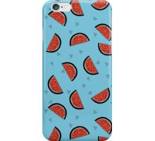 Watermelon - Blue by Andrea Lauren iPhone Case/Skin