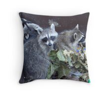 Early Morning Diners Throw Pillow
