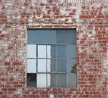 Brick Wall and Window by Donna Grayson