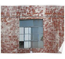 Brick Wall and Window Poster