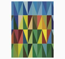 Abstract triangles Kids Clothes