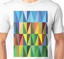 Abstract triangles Unisex T-Shirt