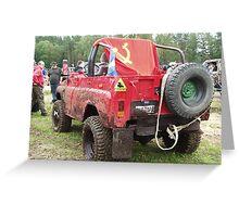 UAZ mud racing team Greeting Card