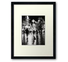 Wet Shadows Framed Print
