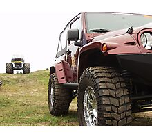 Jeep and monster truck Photographic Print