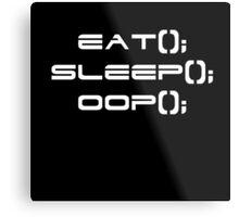 Eat, Sleep, OOP Metal Print