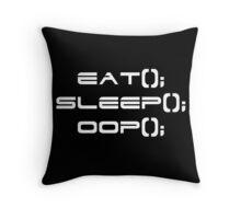 Eat, Sleep, OOP Throw Pillow
