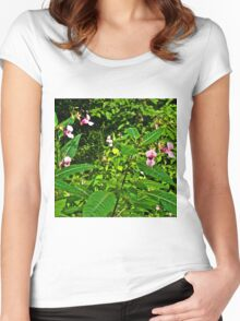 Forest Flower 2 Women's Fitted Scoop T-Shirt